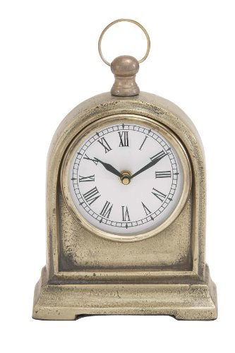 Deco 79 Aluminum Table Clock, 6 by 10-Inch
