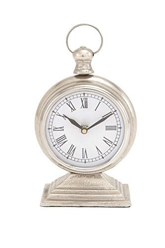 Deco 79 Aluminium Table Clock, 5 by 9-Inch
