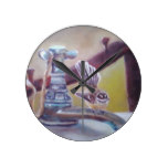 Fantail and Tap Round Clock