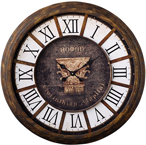 A&B Home Jameson Roman Clock, 32.5-Inch