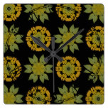 Abstract Vintage Wallpaper Square Wallclock