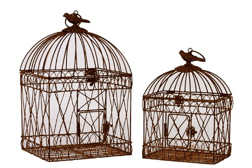 2-Pc Bird Cage Set with Handles