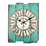 Large Vintage Rustic Wall Clock Shabby Home Room Office Coffeeshop Bar Decor New