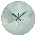 Rustic Vintage Butterfly Love Print Wall Clock