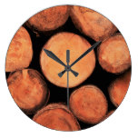 Rural Tree Trunks – Wall Clock