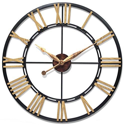 Infinity Instruments Cologne Oversized Wall Clock, Large/45″