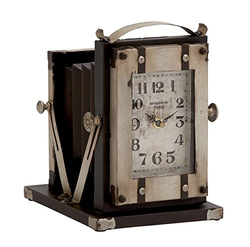 Deco 79 Metal Table Clock, 8 by 10-Inch