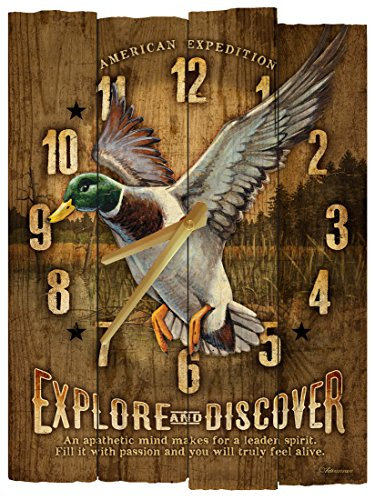 American Expedition Mallard Wooden Wall Clock