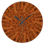 Swirl of Cinnamon Branches Wall Clock