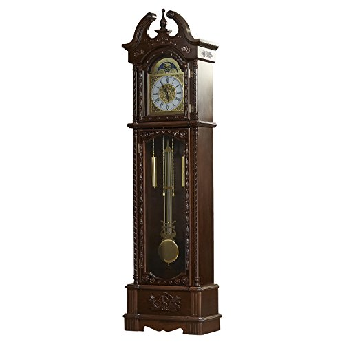 81.5″ Grandfather Clock- Designed with Traditional and Rustic Accents, the Clock Is a Regal Piece of Furnishing. An Exquisite Timepiece, This Clock Add a Dash of Sophistication in Your Home. *