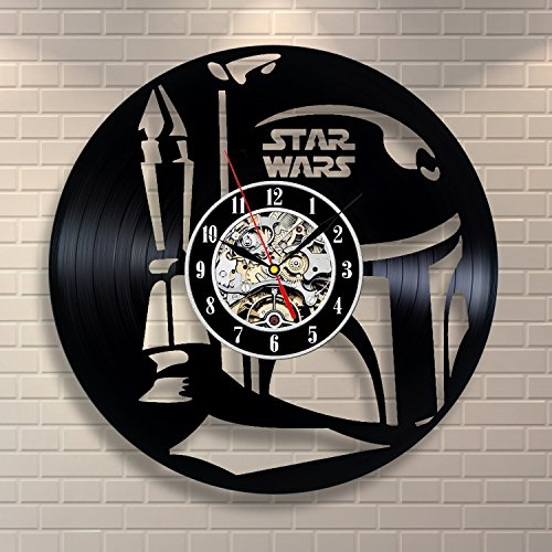 Boba Fett Star Wars Art Vinyl Record Clock Home Design Room Decor