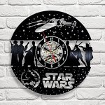 Star Wars Art Vinyl Record Wall Clock Gift Home Decor Vintage