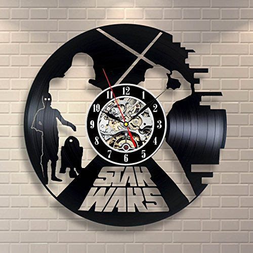 Star Wars c3po Movie Gift Wall Art Vinyl Record Clock Interior Decor Home Design