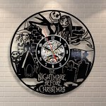 The Nightmare Before Christmas Movie Art Vinyl Record Clock Wall Decor Home Design