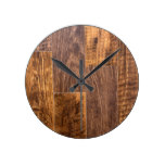 Hard Wood floor Round Clock