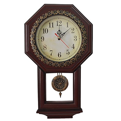 Giftgarden® Vintage Wall Clock with Pendulum