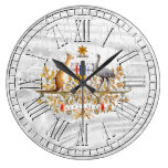 Weathered Australia Your Color Wash Large Clock