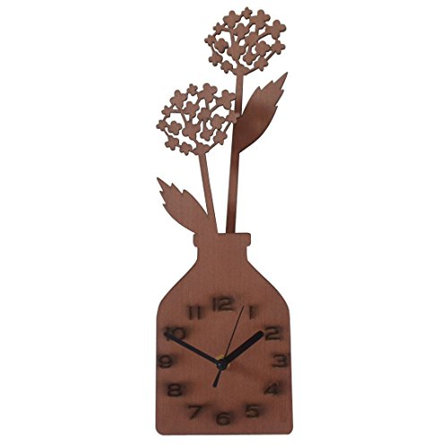 Giftgarden® Vase Desk Clock with Dandelion