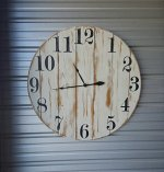 36″ reclaimed wood wall clock, fixer upper style clock, farmhouse wall clock, oversized wall clock, rustic clock, shabby chic clock, distressed clock