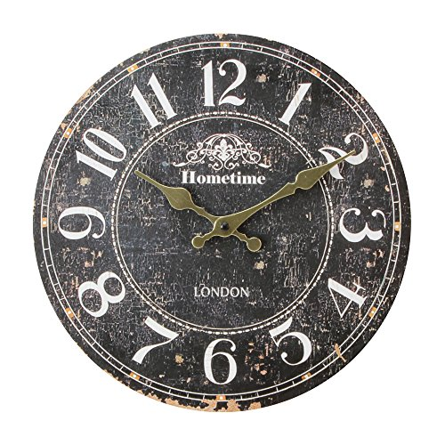 Original Black and White British Chalk Board Themed Wall Clock by Haysom Interiors
