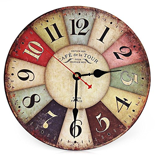 ASSIS Pastoral Wall clock , Practical space, sitting room, bedroom, restaurant, office, study