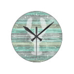 Rustic Coastal Decor Lobster Round Clock