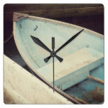 Dinghy Boats Square Wall Clock