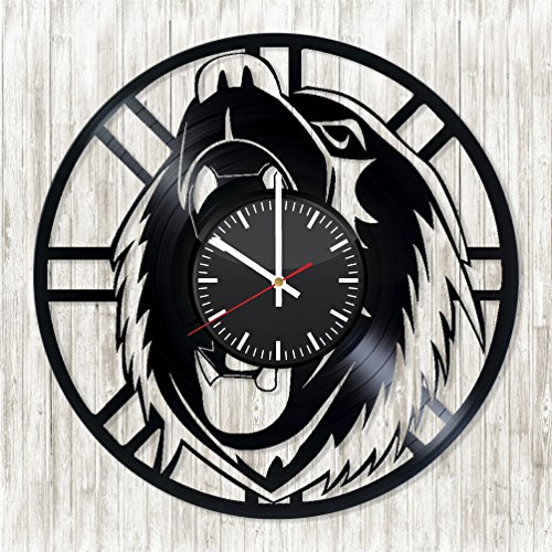 Boston Bruins Bear Handmade Vinyl Record Wall Clock – Get unique bedroom wall decor – Gift ideas for grandpa and father – Unique sport art design – Leave us a feedback and win your custom clock