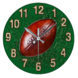 Vintage look Football Wall Clock in YOUR COLOR