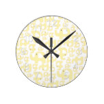 Yellow Elephant Country Rustic Baby Infant Gift Round Clock