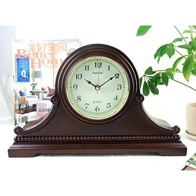 Modern/Country/Mantel Clock/Wood Table Clock 163.1259.625″/Brown Color/Westminster Chime/Hourly Strike/Seiko Movement