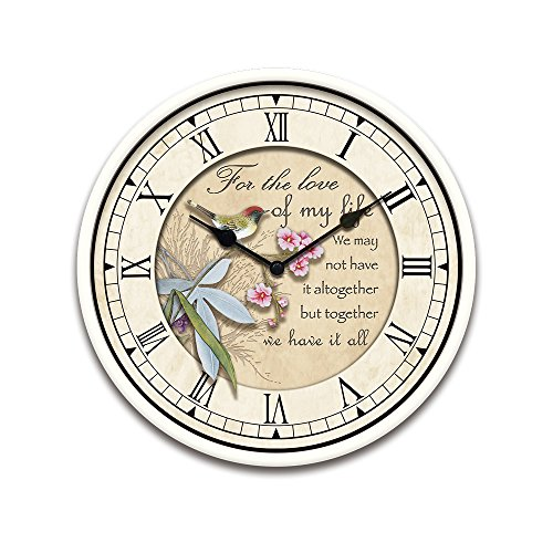 Pretty Cute Attractive Christmas Home Decor Decorative French Country Tuscan Style Wall Clock Vintage Retro Floral Animal Print Electric Battery Round Clock For Kitchen Living Room Floral Bird-031