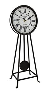 Antiquite De Paris Rustic Brown Metal Pendulum Table Clock 18 Inch