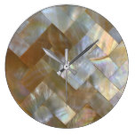 Mother of Pearl Capiz Weave Large Clock