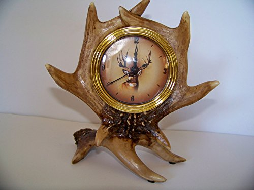 Slifka Wildlife Deer Antler Mantel Clock