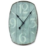 The French Country Style Analog Clock, Distressed, Weathered and Rusted Glass and Metal, Battery Powered, 1 AA, (not included) Approx. 2Ft High, Ships in Gift Box, By Whole House Worlds