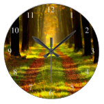 Mystical Forest Road Large Clock