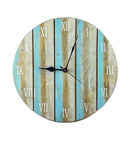 Antique Weathered Vintage Wall Clock | Hand Crafted Decor | Nagina International by Nagina International (12 Inches)