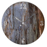 Natural Wood Grain Tree Bark Large Clock