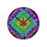 Psychedeli colors and Crystal Round Clock