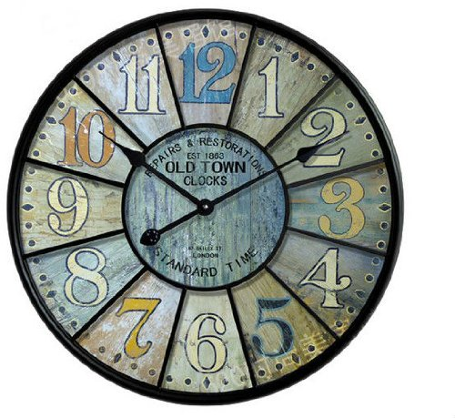 Fashion Vintage Silent Pocket Watch Fashion Wool Rustic Large Wall Clock Table Home