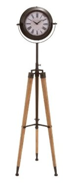 Deco 79 Metal Tripod Floor Clock, 62 by 16-Inch