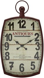 Deco 79 Metal Wall Clock, 19 by 33″