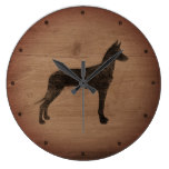 Pharaoh Hound Silhouette Rustic Large Clock