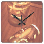 Jars of evil monsters square wall clock