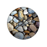 Nature rocks river bed round clock