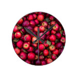 Red Apples Fruit pattern Round Clock