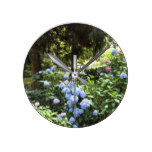 Hydrangea Floral Trees Nature Photography Round Clock