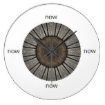 "Wooden It Be Nice Mandala ""Now"" Large Clock"