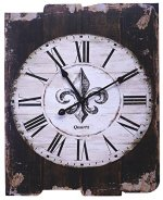 Lulu Decor, French Country Style Rustic Round Wood Wall Clock 23.50″ (LH36)